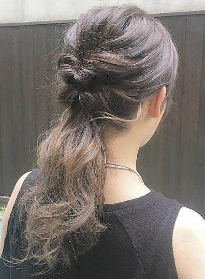 ロングダウンスタイル簡単アレンジ(髪型セミロング)