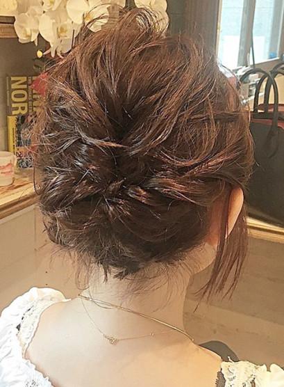 ショートボブ アップアレンジ(髪型ショートヘア)