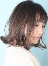 ☆切りっぱなしアッシュボブ☆bob(髪型ボブ)