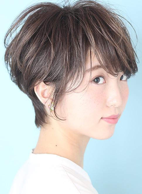 大人可愛い小顔ショートヘア☆short(髪型ベリーショート)