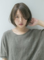サラヘアーでもしっかりフォルムスタイル(髪型ショートヘア)