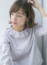 外ハネアンニュイボブスタイル(髪型ボブ)