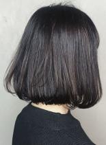 ワンカールシンプルボブ(髪型ボブ)