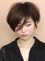 大人フェミニン☆うざバングショートボブ(髪型ショートヘア)