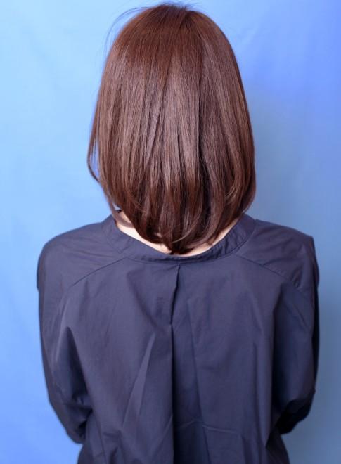 ミディアム】30、40代似合う髪型◎丸顔◎オフィス◎/HOULeの髪型
