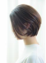 30代40代 大人ナチュラルショートボブ(髪型ショートヘア)