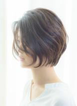 40代50代◎前髪なしの大人ショートボブ(髪型ショートヘア)
