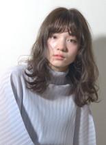 ウィーブパーマセミロング(髪型セミロング)