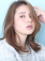 大人のためのナチュラルレイヤー☆(髪型セミロング)