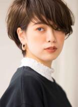 大人なフレンチグラデーションショートボブ(髪型ショートヘア)