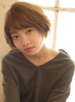 ふわっとラフに決まる柔らかショートボブ☆(髪型ショートヘア)