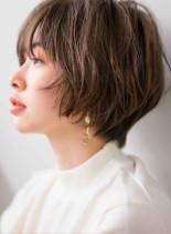 大人可愛いグラデーションショートボブ(髪型ショートヘア)