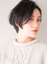 フレンチグラデーションショートボブ(髪型ショートヘア)