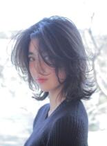 大人のミディアムフレア(髪型ミディアム)