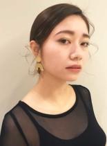 モードコレクションシニヨン(髪型セミロング)