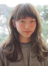 大人のハイトーンカラー(髪型セミロング)