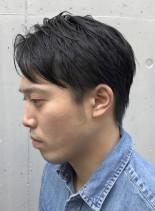 刈り上げない 大人のナチュラルショート(髪型メンズ)