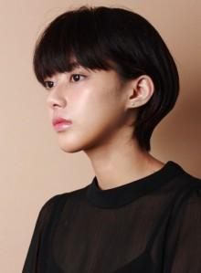 ☆黒髪の大人耳掛けショートボブ☆(ビューティーナビ)