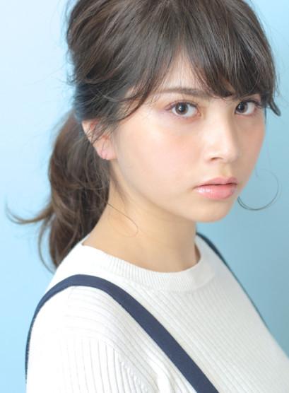 朝ラク◇ゆるポニーテール(髪型セミロング)