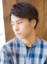 2wayスタイル☆メンズアップバングヘア(髪型メンズ)
