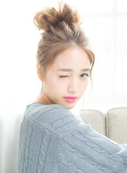 ★カジュアル甘ふわUP★(髪型ミディアム)