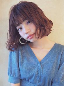 ◇ピンク系カラー◇ ふわっとパーマ×ボブ(ビューティーナビ)
