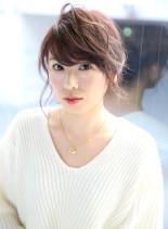 ふんわりアレンジ(髪型セミロング)