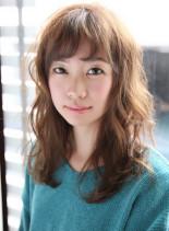 リラックスウェーブミディ(髪型セミロング)