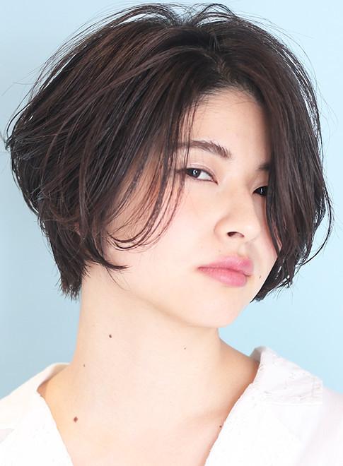 【30代40代】大人のひし形ショートボブ(髪型ショートヘア)