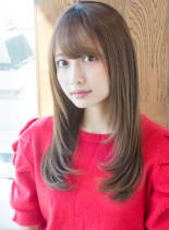 明日香のうるっとストレート(髪型ロング)