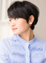 大人の耳掛けショートスタイル(髪型ショートヘア)