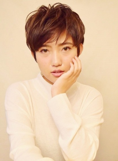 大人の年代別 女優ショート剛力彩芽風(髪型ベリーショート)