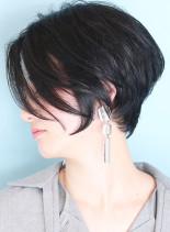 【30代40代】人気ツヤ髪ショートボブ(髪型ショートヘア)