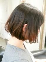 切りっぱなしボブ(髪型ボブ)