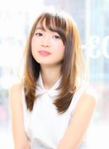 ☆イルミナカラーヌード×ストレート☆小林(髪型セミロング)