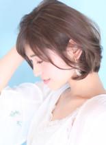 大人の春夏ゆるふわ☆美シルエットボブ(髪型ボブ)
