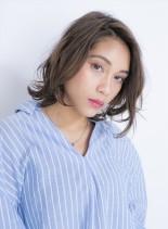 外国人風☆ヌーディボブ(髪型ボブ)