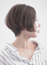 美シルエット大人のショートヘア(髪型ショートヘア)
