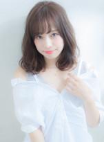 暗髪☆透明感カラーミディアム