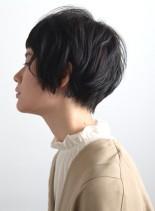 アシメニュアンスショートスタイル(髪型ショートヘア)
