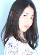 うるツヤ★大人ストレート(髪型セミロング)