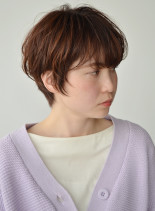 ゆるめカールのマッシュショート(髪型ショートヘア)