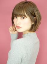 ひし形シルエットのエアリーショート☆(髪型ショートヘア)
