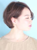 大人の柔らかショートボブ☆(髪型ショートヘア)