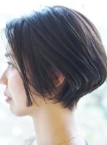 大人の骨格美ショートボブ(髪型ショートヘア)
