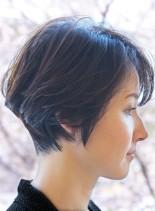 コンパクトショートボブ(髪型ショートヘア)