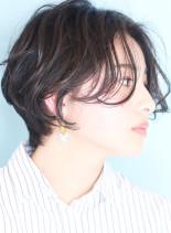 大人ニュアンス☆パーマショートボブ(髪型ショートヘア)