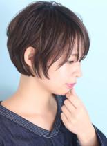 大人のヌーディーショート(髪型ショートヘア)