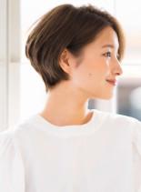 大人可愛いジェンダーレス美シルエット(髪型ショートヘア)