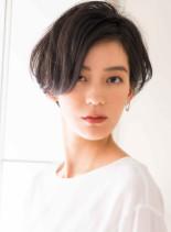 大人ジェンダーレス美シルエットショート(髪型ショートヘア)